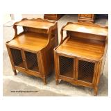 "PAIR of ""John Widdicomb Furniture"" VINTAGE SOLID Mahogany Step Up Night Stands   Auction Estimate $1"