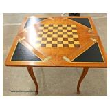 QUALITY SOLID Cherry Butterfly Napkin Chess/Checker Game Table   Auction Estimate $100-$300 – Locate