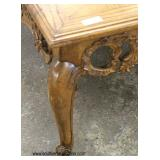 Italian Style Carved Parquet Inlaid Top Square Coffee Table   Auction Estimate $100-$200 – Located I