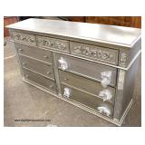 NEW 9 Drawer Contemporary Low Chest in the Silver Color   Auction Estimate $ 200-$400 – Located Insi