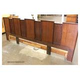 6 Piece Modern Design Mahogany Bedroom Set with King Size Headboard Only   Auction Estimate $400-$80