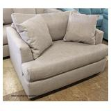 NEW Grey Upholstered Sofa and Loveseat with Throw Pillows   Auction Estimate $300-$600 – Located Ins