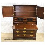 "SOLID Mahogany ""C.W. Kittinger Furniture"" 2 Piece Secretary with Blind Door Bookcase Top   Auction E"