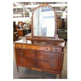 Walnut 2 Tone Depression High Chest and Low Chest with Mirror   Auction Estimate $200-$400 – Located