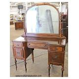 Walnut 2 Tone Depression Vanity with Mirror   Auction Estimate $100-$300 – Located Inside