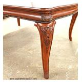 8 Piece Contemporary Mahogany Finish Dining Room Set with 2 Leaves   Auction Estimate $300-$600 – L