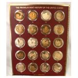 """Mahogany Case """"Franklin Mint"""" History of The United States Special SOLID Bronze Edition with 200 SOL"""