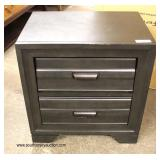 NEW Grey Wash 2 Drawer Night Stand   Auction Estimate $50-$100 – Located Inside