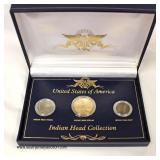 United States of America Indian Head Collection   Auction Estimate $10-$20 – Located Inside