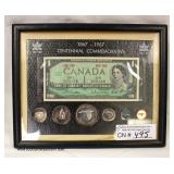 1867-1967 Centennial Commemorative Canada Set – some Silver   Auction Estimate $20-$40 – Located Ins