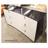 NEW Modern Design Black and White Low Chest   Auction Estimate $200-$400 – Located Inside