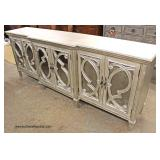 NEW 6 Drawer Decorator Silver Color Credenza   Auction Estimate $200-$400 – Located Inside