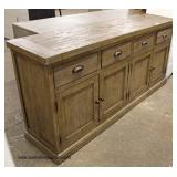 NEW Country Style 4 Door 4 Drawer Buffet   Auction Estimate $200-$400 – Located Inside