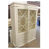 NEW Contemporary Shabby Chic Style 4 Door China Cabinet   Auction Estimate $200-$400 – Located Insi