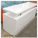 NEW White Lacquer Modern Design Credenza   Auction Estimate $200-$400 – Located Inside