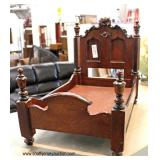 Walnut Victorian Carved Doll Bed Salesman Sample   Auction Estimate $20-$100 – Located Inside
