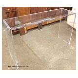 NEW Modern Design Lucite Sofa Table   Auction Estimate $100-300 – Located Inside