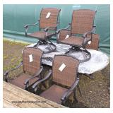 NEW with Tags  7 Piece Cast Aluminum Patio Set  Auction Estimate $300-$1000 – Located Field