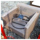 NEW Wicker Swivel Chair  Auction Estimate $50-100 – Located Inside