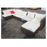 "NEW 6 Piece ""WeatherProof Since 1946""Wicker Patio Lounge Set  Auction Estimate $300-$600 – Located"