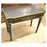 ANTIQUE French Empire Brass Inlaid Flip Top Game Table  Auction Estimate $300-600 – Located Inside