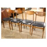 Set of 4 Mid Century Modern Danish Walnut Side Chairs  Auction Estimate $200-$400 – Located Inside