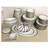 "95 Piece ""Noritake Silvester"" Japan Dinnerware Set  Auction Estimate $50-$150 – Located Inside"