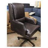Selection of NEW and Like New Black and Brown Leather Office Chair  Auction Estimate $100-$300 each