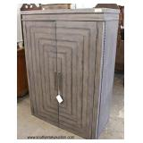 """NEW """"Liberty Furniture"""" 2 Door Rustic Style Armoire with Fitted Interior and 2 Drawers  Auction Est"""