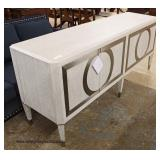 "NEW Ultra Modern ""Bernhardt Furniture"" Credenza with Chrome Accents  Auction Estimate $300-$600 – L"