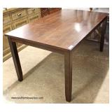 NEW 5 Piece Mahogany Finish Kitchen Table with 6 Upholstered Seat Chairs  Auction Estimate $200-$40