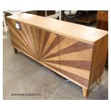 "NEW ""Style Craft Furniture"" Sunburst Design Modern Credenza  Auction Estimate $300-$600 – Located I"
