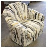 NEW Upholstered Modern Design Club Chair  Auction Estimate $100-$300 – Located Inside