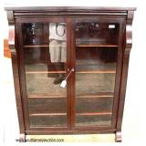 ANTIQUE Mahogany Empire 2 Door Bookcase  Auction Estimate $200-$400 – Located Inside