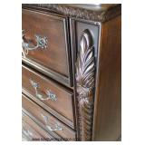 NEW Contemporary Carved Mahogany Finish High Chest  Auction Estimate $200-$400 – Located Inside