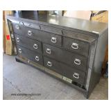 NEW Contemporary Mirrored Picture Frame Slate Grey Dresser  Auction Estimate $200-$400 – Located In