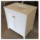 "NEW 30"" Marble Top Bathroom Vanity  Auction Estimate $100-$300 – Located Inside"
