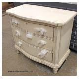 """NEW """"Stanley Furniture"""" 3 Drawer Shabby Chic Style Bachelor Chest  Auction Estimate $100-$300 – Loc"""