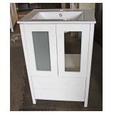 "NEW Marble Top 24"" Bathroom Vanity  Auction Estimate $100-$300 – Located Dock"