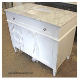 "NEW 48"" Marble Top Bathroom Vanity  Auction Estimate $100-$300 – Located Dock"