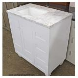 "NEW 36"" Marble Top Bathroom Vanity  Auction Estimate $100-$300 – Located Inside"