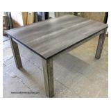 NEW Grey Wash Rustic Farm Style Dining Room Table  Auction Estimate $100-$300 – Located Inside