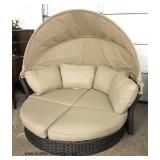 """ULTIMATE NICE """"Creative Living Furniture"""" Outdoor Canopy Wicker Day Bed  Auction Estimate $400-$800"""