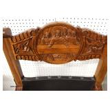 "PAIR of ""X"" Frame Theater Style Hand Carved Mahogany Chairs  Auction Estimate $300-$600 – Located I"