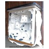 "NEW COOL 220 Volt ""Futura"" Spa with Chaise and  88 Jets, LED Lights, Cover and More  Auction Estima"