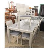 "NEW 9 Piece ""RST Furniture"" Wicker Table and 8 Chairs in the Grey Color  Auction Estimate $400-$800"