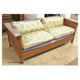 "Mission Oak ""Stickley Furniture"" Even Arm Sofa  Auction Estimate $500-$1000 – Located Inside"