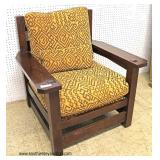 "Mission Oak ""Stickley Furniture"" Arm Chair  Auction Estimate $300-$600 – Located Inside"