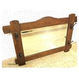 "Mission Oak ""Stickley Furniture"" Hat Rack Mirror  Auction Estimate $100-$300 – Located Inside"