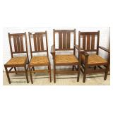 """Set of """"4"""" ANTIQUE """"Stickley Furniture"""" Mission Oak Dining Room Chairs  Auction Estimate $200-$400"""